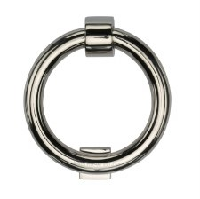Heritage K1270 Ring Door Knocker Polished Nickel