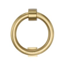 Heritage K1270 Ring Door Knocker Satin Brass
