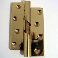 Rising Butt Hinge 75mm Polished Brass