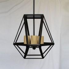 Riva 3 Light Pendant Black