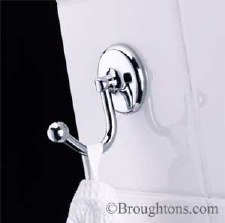 Samuel Heath N1048 Concealed Fix Robe Hook Polished Chrome