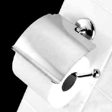 Samuel Heath N1037-C Covered Toilet Roll Holder Polished Chrome