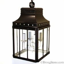 Roma Lantern Black with White