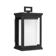 Feiss Roscoe Outdoor Wall Light Small Textured Black