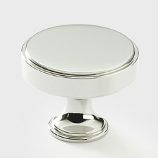 Armac Rotunda Cabinet or Cupboard Knob 32mm Polished Nickel