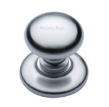 Heritage V901 Centre Door Knob Satin Chrome