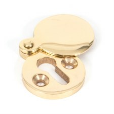From The Anvil Round Covered Escutcheon Polished Brass