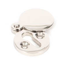 From The Anvil Round Covered Escutcheon Polished Nickel