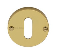 Heritage Round Escutcheon V1014 Polished Brass