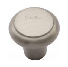 Heritage Flat Round Knob C3990 32mm Satin Nickel