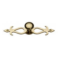 Heritage Round Knob on Backplate C3074 Polished Brass
