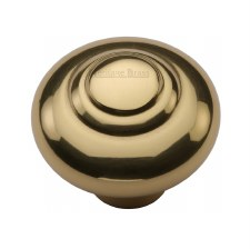 Heritage Round Knob C3985 38mm Polished Brass
