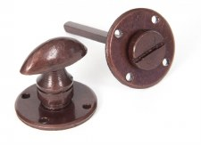 From The Anvil Round Bathroom Thumb Turn & Release Bronzed