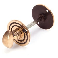 From The Anvil Round Bathroom Thumb Turn & Release Polished Bronze