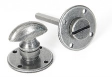 From The Anvil Round Bathroom Thumb Turn & Release Pewter