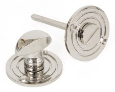 From The Anvil Round Bathroom Thumb Turn & Release Polished Nickel