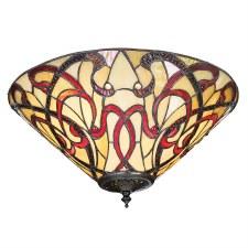 Interiors 1900 Ruban Tiffany Medium Flush Light 70701