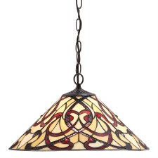 Interiors 1900 Ruban Tiffany Ceiling Pendant Light Medium