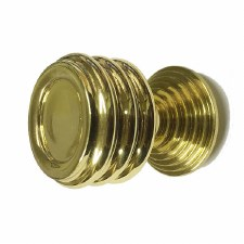 Croft 5105 Cupboard Knob Polished Brass Unlacquered
