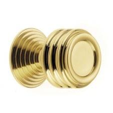Croft 5105 Cupboard Knob Polished Brass Unlacquered