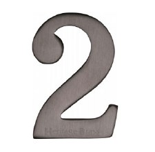 Heritage Self Adhesive C1568 House Number 2 Matt Bronze