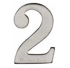 Heritage Self Adhesive C1568 House Number 2 Satin Nickel