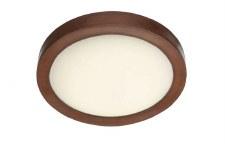 David Hunt SA140/LED Saddler Flush LED Ceiling Light Leather Effect