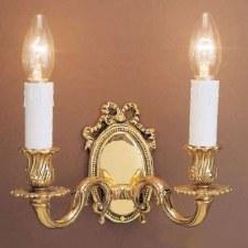 Sandringham Double Wall Light Polished Brass
