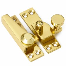 Croft Sash Lockable Fastener Polished Brass Unlacquered