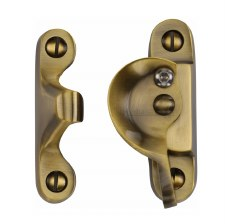 Heritage Sash Fastener V2060 Lockable Antique Brass