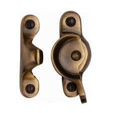 Heritage Sash Fastener V2060 Antique Brass