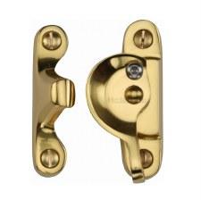 Heritage Sash Fastener V2060 Lockable Polished Brass