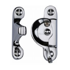 Heritage Sash Fastener V2060 Lockable Polished Chrome