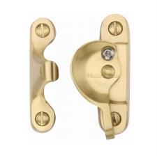 Heritage Sash Fastener V2060 Lockable Satin Brass