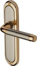 Heritage Saturn Latch Door Handles SAT1010 Satin Nickel & Gold