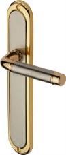 Heritage Saturn Long Latch Door Handles SAT2010 Satin Nickel & Gold