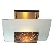 David Hunt MG78 Savoy Semi Flush Ceiling Light Dark Marble