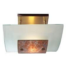 David Hunt MG74 Savoy Semi Flush Ceiling Light, Light Marble