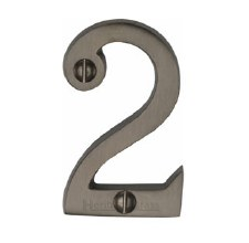 Heritage Screw Fix House Numbers C1567 2 Matt Bronze