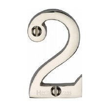 Heritage Screw Fix House Numbers C1567 2 Polished Nickel