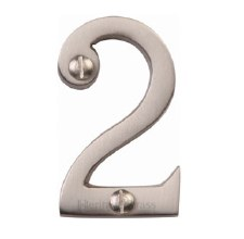 Heritage Screw Fix House Numbers C1567 2 Satin Nickel