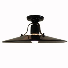 Italian Ceramic Semi-Flush Ceiling Light Nero Grande