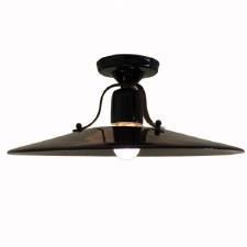 Italian Ceramic Semi-Flush Ceiling Light Nero Grande