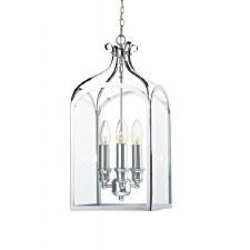 Senator 3 Light Hanging Chain Lantern Polished Chrome