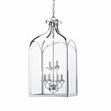 Senator 6 Light Hanging Chain Lantern Polished Chrome