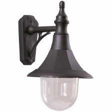 Elstead Shannon Outdoor Wall Light Down Black