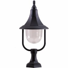 Elstead Shannon Pedestal Lantern Light Black