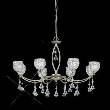 Cherrie Chandelier Light 8 Light Bronze