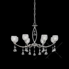 Cherrie Chandelier Light 8 Light Satin Nickel