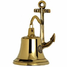 Ships Bell & Anchor Brass Small